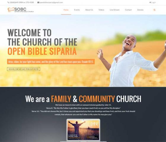 Siparia Open Bible Church Website